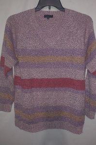 Carolyn Taylor Bubble Gum Striped Sweater 1X Plus